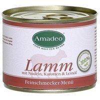 Nassfutter Amadeo Lamm mit Nudeln, Karotten und Leinöl