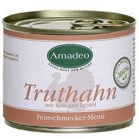 Nassfutter Amadeo Truthahn mit Reis und Leinöl