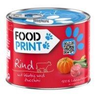 Nassfutter Fressnapf FoodPrint Rind mit Kürbis und Zucchini