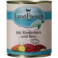 Nassfutter LandFleisch Pur Rinderherzen & Reis mit Biogemüse