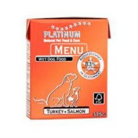 Nassfutter PLATINUM Menü Turkey & Salmon