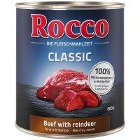 Nassfutter Rocco Classic Rind mit Rentier