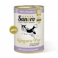 Nassfutter Sanoro 100 % Muskelfleisch vom Känguru, salzfrei