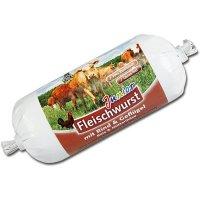 Snacks Schecker DOGREFORM Junior Fleischwurst mit Rind & Geflügel, Reis & Hüttenkäse