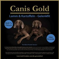 Trockenfutter Canis Gold Senior Lamm & Kartoffel
