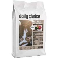 Trockenfutter daily choice basic mit Wild, Reis und Erbsen