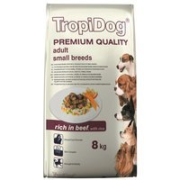 Trockenfutter TropiDog Premium Adult Medium & Small Breeds - with Beef & Rice